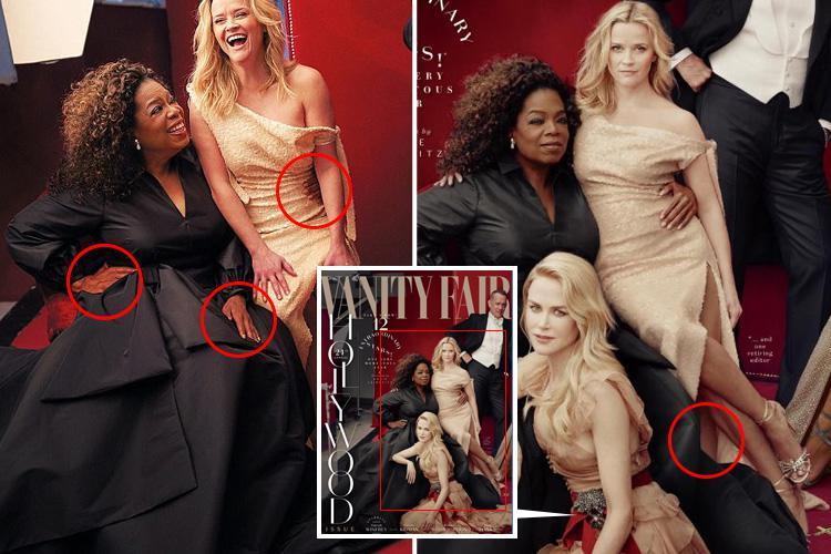 Oprah Winfrey and Reese Witherspoon sport extra limbs in apparent editing errors