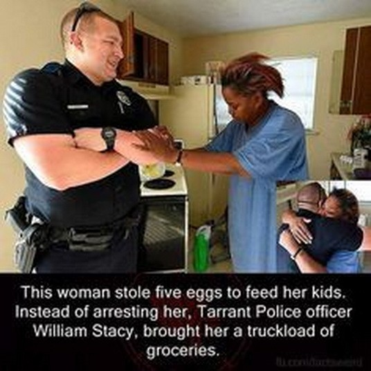 police doing good deed