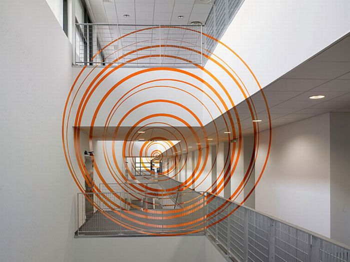 Color Optical Illusions by the Artist on the Walls