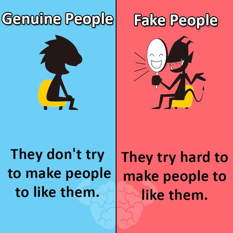 The Difference between GENUINE & FAKE People.