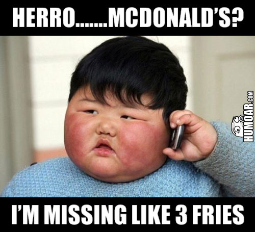 fat kid MacDonald